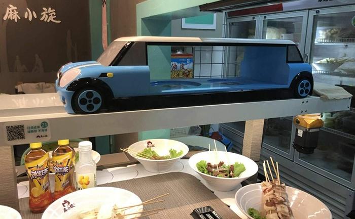 智能轨道双层送餐车系统